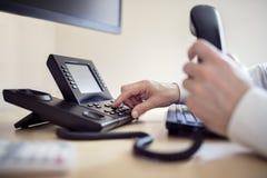 Dialing telephone keypad Royalty Free Stock Photography