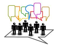 Dialod bubbles with people Stock Image