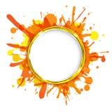 Dialog-Ballone mit orange Klecksen Stockbilder