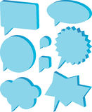 Dialog balloons. Colour illustration of dialogue balloons Royalty Free Stock Image