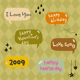 Dialog box. Cute elements of dialog box Stock Images
