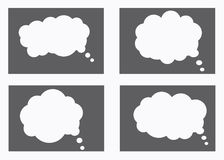 Dialog box icon, chat cartoon bubbles. Thinking cloud. Vector, Isolated in white background Royalty Free Stock Photography