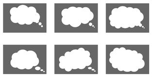 Dialog box icon, chat cartoon bubbles. Thinking cloud. Vector, Isolated in white background vector illustration