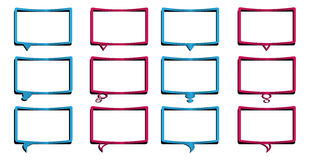 Dialog bubble design. Set of 12 dialog bubbles design with shadow Stock Images
