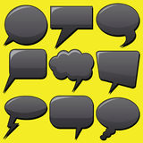 Dialog Bubbles. Vector collection of black dialog bubbles Royalty Free Stock Images