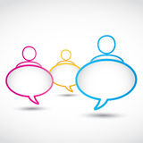 Dialog bubbles Royalty Free Stock Photo