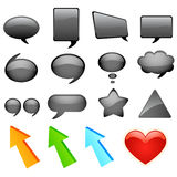 Dialog bubbles and icons Royalty Free Stock Image