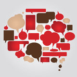 Dialog bubbles  set Stock Image