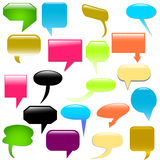 Dialog bubbles vector Stock Photos