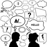 Dialog bubbles vector Royalty Free Stock Images