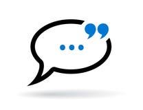Dialog chat vector icon Stock Photos