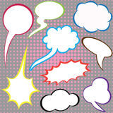 Dialog clouds. Stock Photo