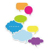 Dialog clouds Royalty Free Stock Photography
