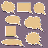 Dialog clouds Stock Images