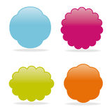 Dialog clouds.  illustration Stock Photo
