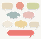 Dialog clouds.  illustration. Vector illustration of Dialog clouds Royalty Free Stock Photos