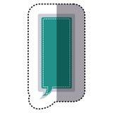 dialog för callout för ram för rektangel för färgklistermärke stor royaltyfri illustrationer