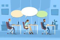 Dialog för pratstund för Businesspeoplegruppkommunikation stock illustrationer