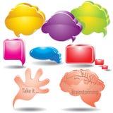 Dialog farbige Luftblasen Lizenzfreies Stockfoto