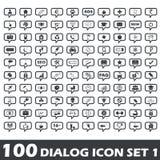 Dialog icon set 1 Royalty Free Stock Image