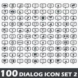 Dialog icon set 2 Royalty Free Stock Photo