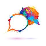 Dialog icon. Splash paint Royalty Free Stock Image