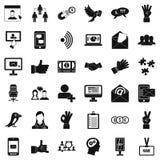 Dialog icons set, simple style Royalty Free Stock Photos