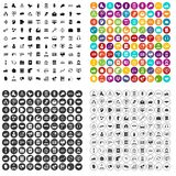 100 dialog icons set vector variant. 100 dialog icons set vector in 4 variant for any web design isolated on white Stock Photos