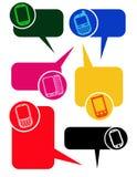 Dialog-Luftblasen mit Handys stock abbildung