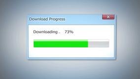 Dialog okno z ściąganie postępem, statusu bar uzupełniał w trzy czwarte Zdjęcie Stock