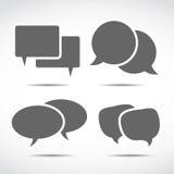 Dialog speech bubbles Stock Photo