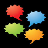 Dialog speech bubbles icons Stock Photo