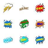 Dialog speech bubbles icons set, cartoon style Stock Photo