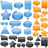Dialog sprudelt Vektor Lizenzfreie Stockfotos