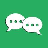 Dialog symbol. On a green background. Flat design element Vector Illustration