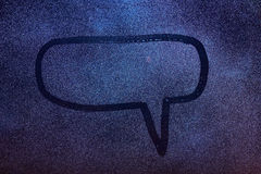 Dialog wiadomości pudełko Obrazy Stock