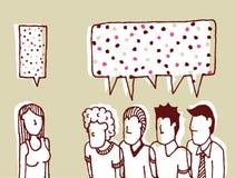 Dialog women and men Royalty Free Stock Image