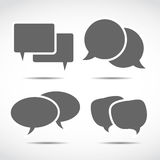 Dialoganförandebubblor Arkivfoto