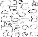 Dialogaskar och ballonger i olika former vektor illustrationer
