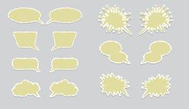 Dialogballonger Arkivbild