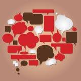 Dialogen bubbles samlingen Arkivbild