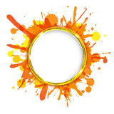 Dialogen sväller med orange klickar Arkivbilder