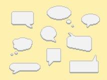 Dialogluftblasen eingestellt Stock Abbildung