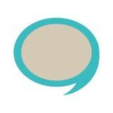 Dialogo blu della siluetta con gray dentro Fotografia Stock