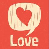 Dialogo di amore nel retro stile Fotografie Stock Libere da Diritti