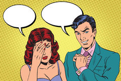Dialogo difficile un'emicrania illustrazione vettoriale
