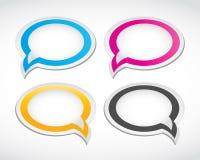 Dialogspracheluftblasen eingestellt Stockfotografie