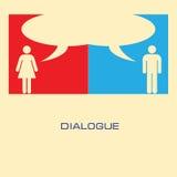 Dialogue Image libre de droits