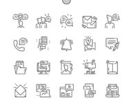 Dialogue assets Well-crafted Pixel Perfect Vector Thin Line Icons. 30 2x Grid for Web Graphics and Apps. Simple Minimal Pictogram stock illustration