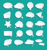 Dialogue blanc de nuages Images stock